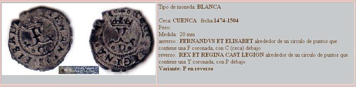 Blanca de los RRCC ceca de Cuenca Blanca10