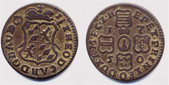 Liard de Lieja, Belgica, 1750 Liard510