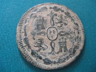 8 Maravedies de Fernando VII (Jubia, 1820) [WM n° 7220] F_vii_10
