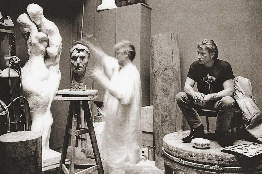 sculture de Johnny par Daniel Duret Sculpt11