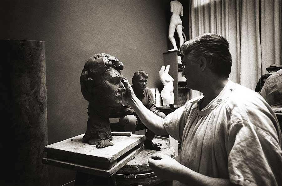 sculture de Johnny par Daniel Duret Sculpt12