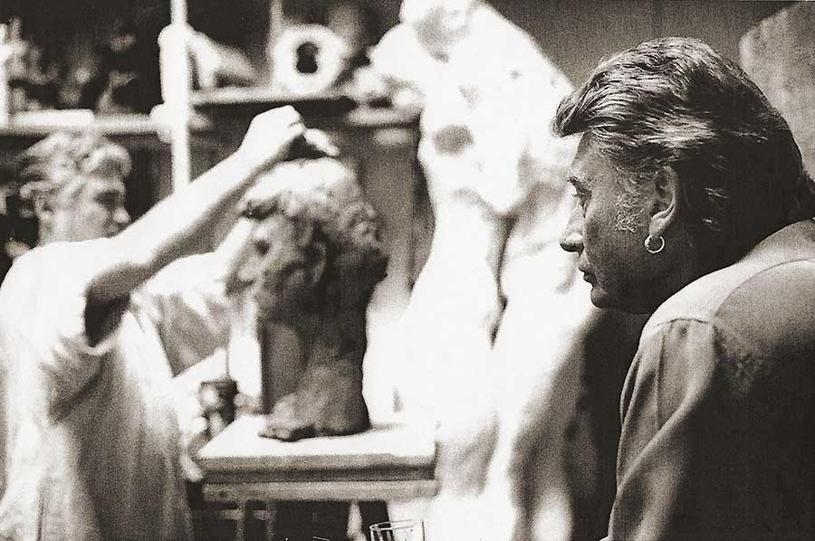 sculture de Johnny par Daniel Duret Sculpt13