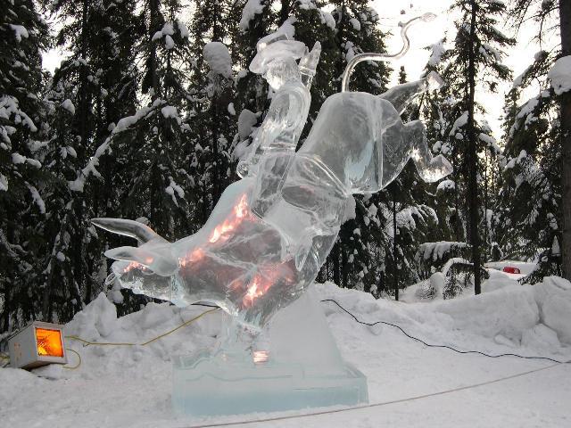 Sculpture de glace Cheval10