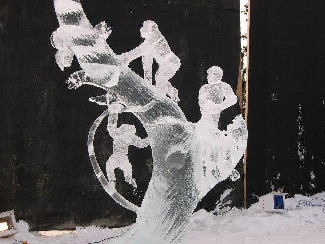 Sculpture de glace Singe-10