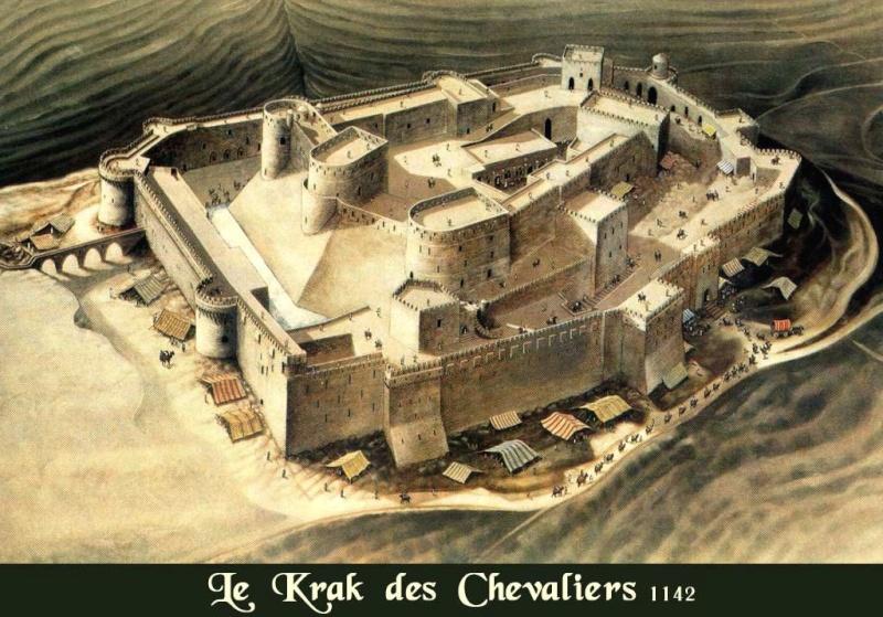 Krak des Chevaliers - Plaine de la Beqaa (Syrie) Krak10