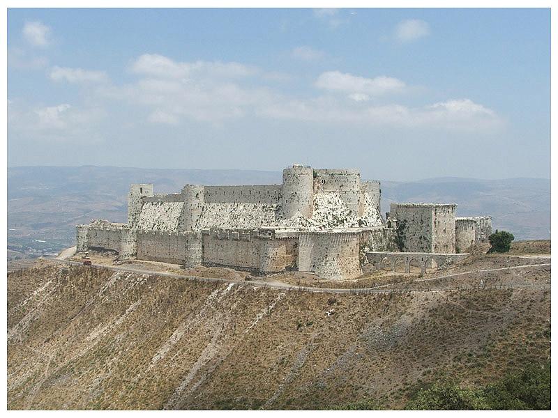 Krak des Chevaliers - Plaine de la Beqaa (Syrie) Krak_d10