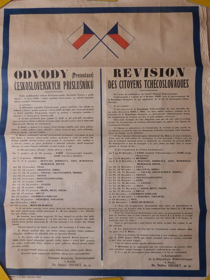 Affiches pour la constitution de l'Armée Tchécoslovaque en France Affich11