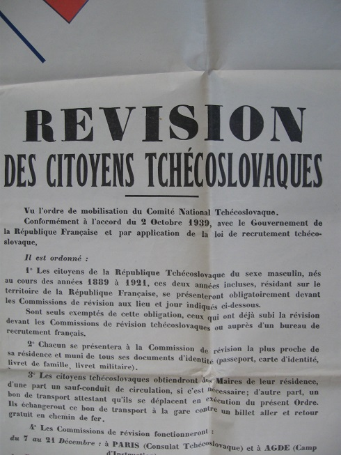 Affiches pour la constitution de l'Armée Tchécoslovaque en France Img_4634