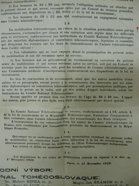 Affiches pour la constitution de l'Armée Tchécoslovaque en France Img_4637
