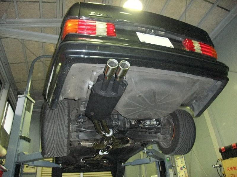 Réplique échappement AMG complet en inox pour la 560 SEC Echapp10