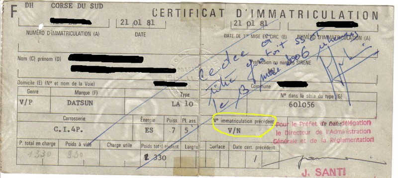 Ma Datsun VIOLET 140J de 1981 Carte_10