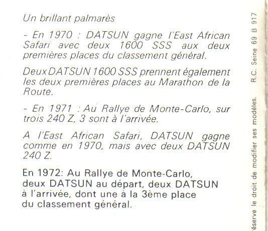 TOPIC OFFICIEL DATSUN 510... Voiture mythique! Speech13