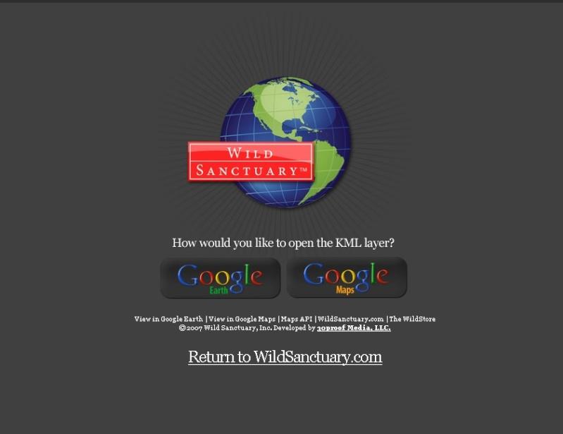 Wildsanctuary sur Google Earth Accuei10
