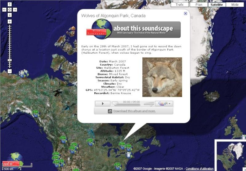Wildsanctuary sur Google Earth Canada10