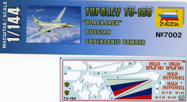 "Tupolev Tu-160 ""Blackjack"" [1:144 - ZVEZDA] Decal-10"