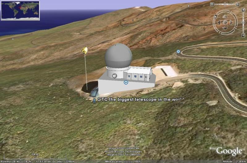 Observatoires astronomiques vus avec Google Earth Grand_11