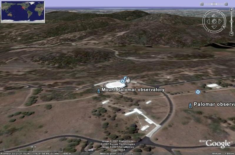 Observatoires astronomiques vus avec Google Earth Paloma10