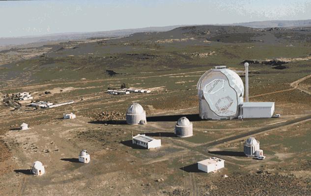 Observatoires astronomiques vus avec Google Earth Salt-s10