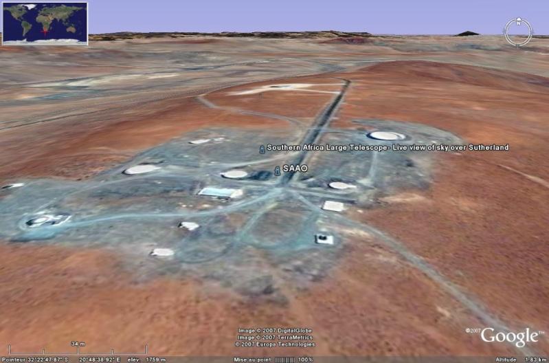 Observatoires astronomiques vus avec Google Earth Salt10