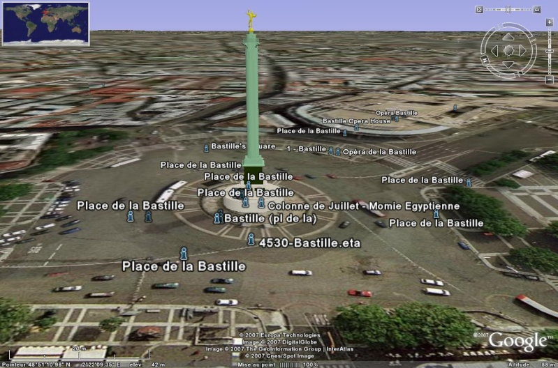 Bâtiments 3D avec textures - PARIS et Région parisienne [Sketchup] Bastil10