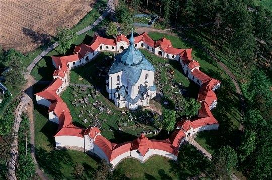 Eglise Zelená hora (une étoile tombée du ciel) - Bohème - République tchèque Eglise11