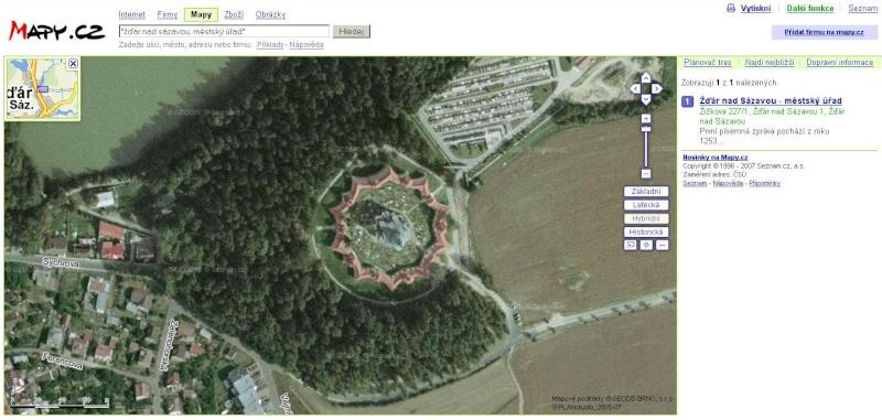 Eglise Zelená hora (une étoile tombée du ciel) - Bohème - République tchèque Mapy_c10