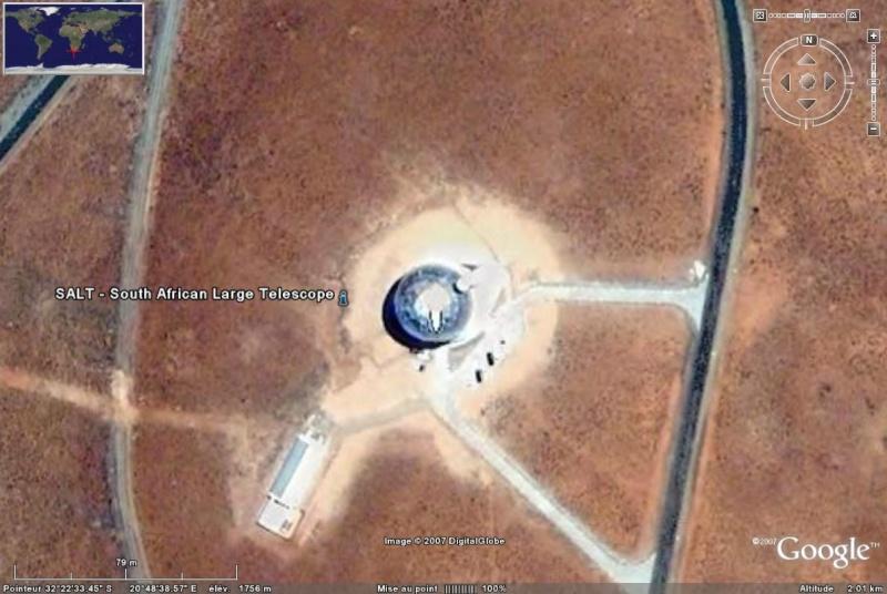 Observatoires astronomiques vus avec Google Earth Salt_g10