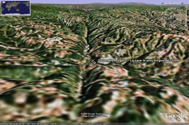 Les grottes du Monde illustrées avec Google Earth Shuang10