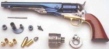 Colt navy 1851 à cartouche métalliques Conver10