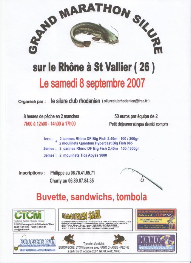 Marathon silure à St Vallier en septembre 2007 Affich10