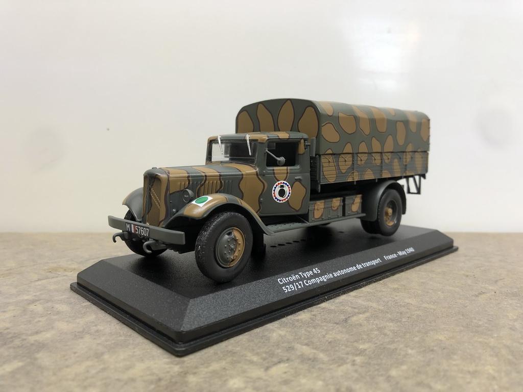 Test Altaya Camions Militaires de la Seconde Guerre Mondiale au 1/43 CITROËN 45 Img_7987