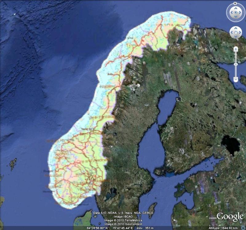 NORWAY WMS - Carte Topographique de Norvège [Surcouche / Overlay pour Google Earth] Captu243