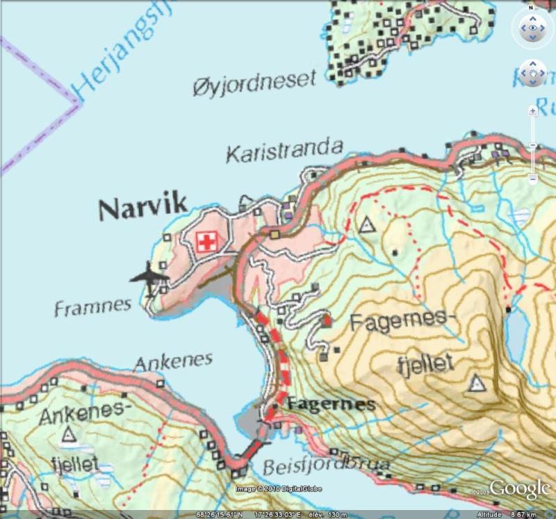 NORWAY WMS - Carte Topographique de Norvège [Surcouche / Overlay pour Google Earth] Captu244