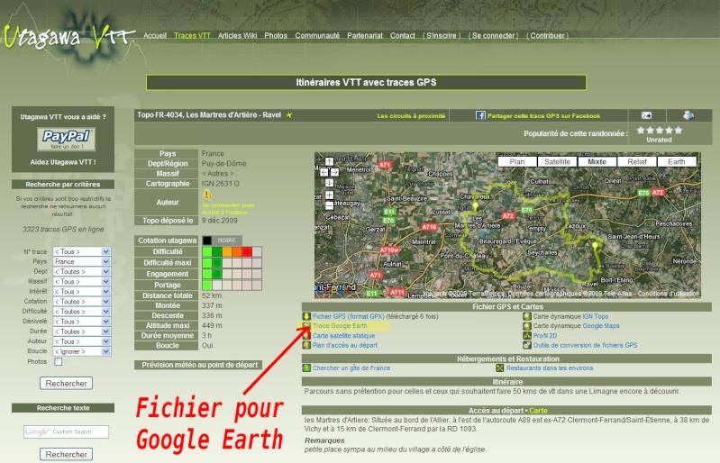 Utagawa VTT : 3323 itinéraires en VTT -  [fichier Traces GPS pour Google Earth] Captur86