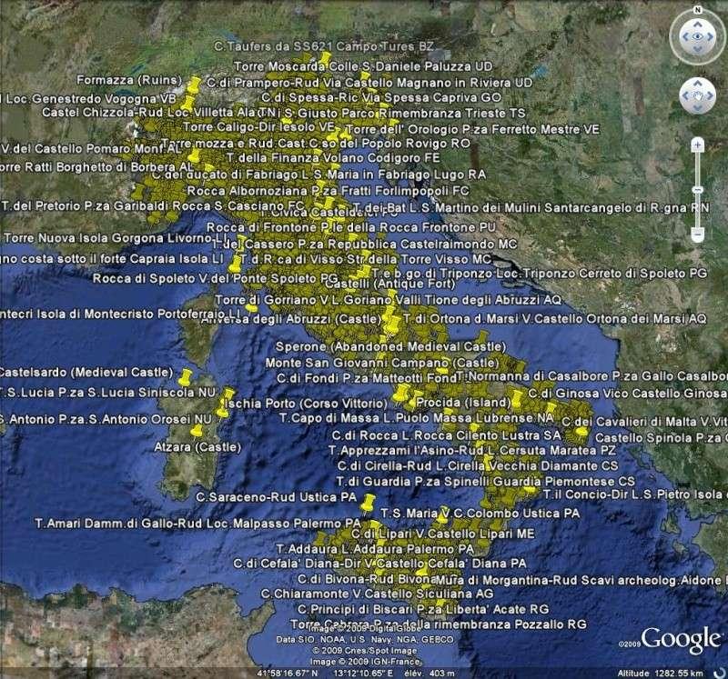 2713 châteaux en Italie [fichier KML pour Google Earth] Cast10