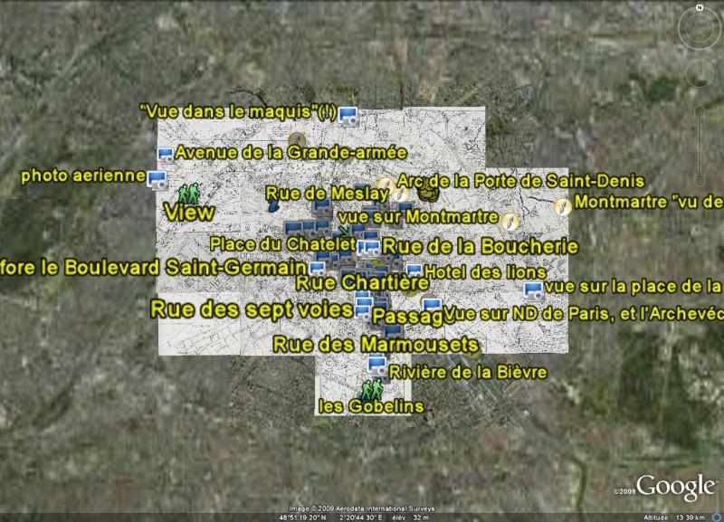Paris en 1808 - Photos et tableaux - France [Surcouche / Overlay pour Google Earth] Paris_10