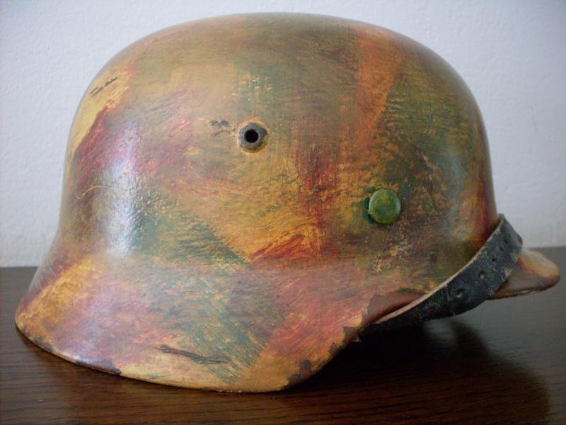 Camouflage normandie casque allemand 0091010
