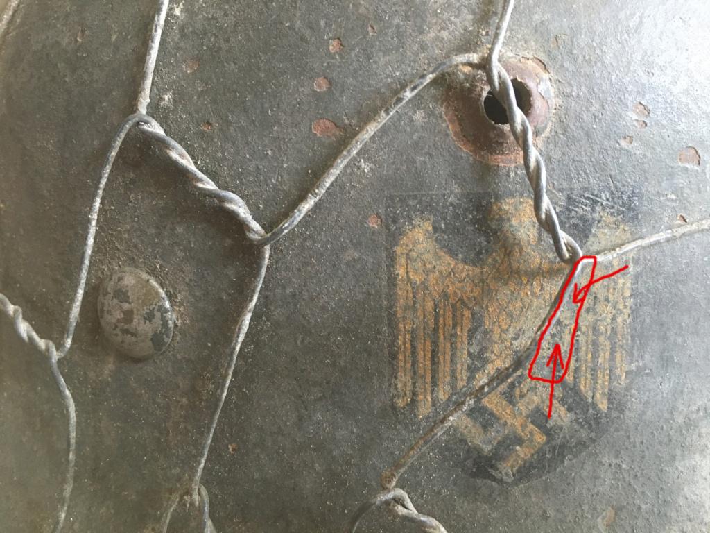 Authentification Casque Allemand grillagé WW2 Img_1010