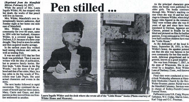 In Memory of Laura Ingalls Wilder Liw5810