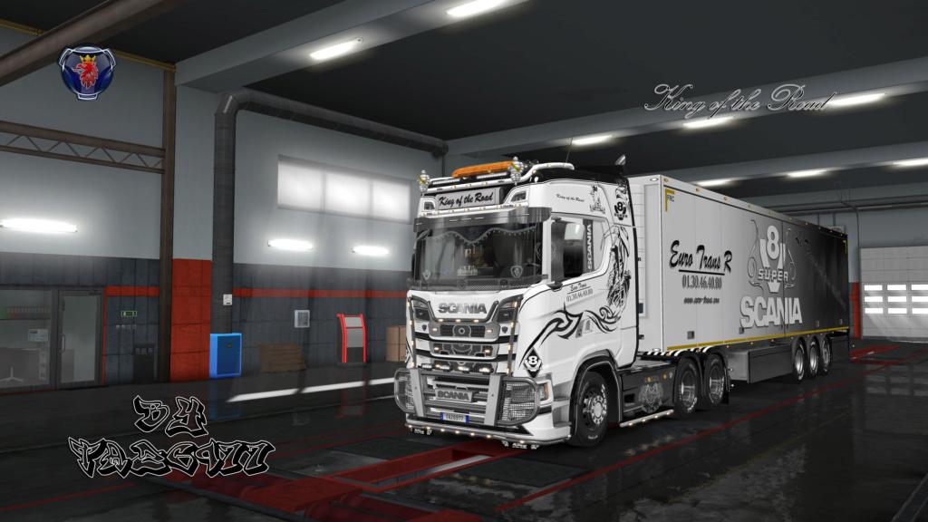 SKIN : Ensemble Euro Trans / Scania S & Remorque 20180921