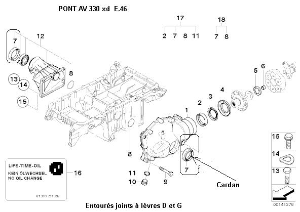 [ BMW E46 330xd an 2003 ] changement cardan avant gauche 31_pon10