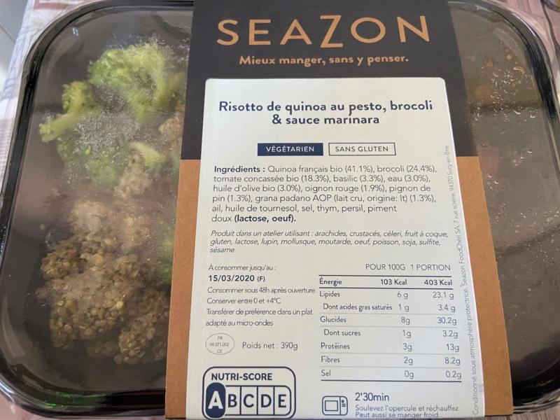 SEAZON : livraison de repas frais  Captur11