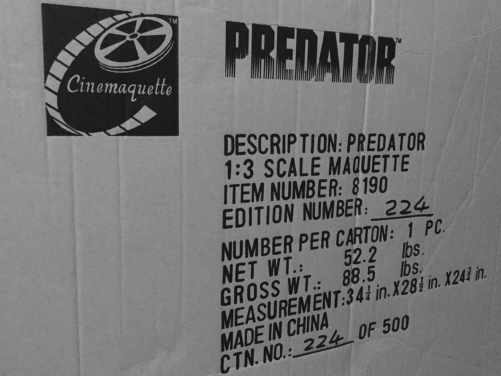 cinemaquette Predator  baisse promo 4000€ 9f097710