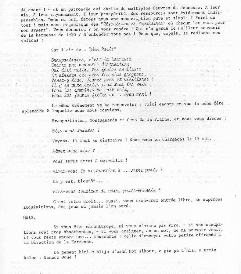 Brasparts: la kermesse de 1932 File0046
