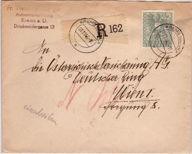 Wappenzeichnung  -  ANK 714-736 - Belege Adlerb10
