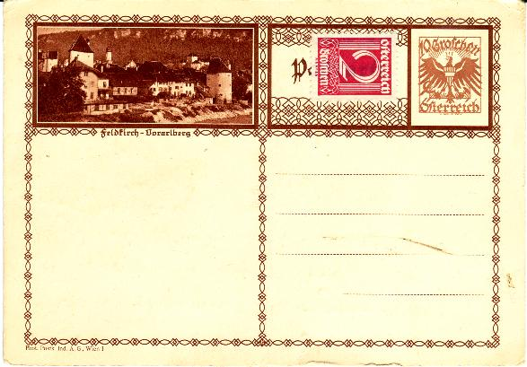Bildpostkarten Österreich  -  Mi. P 278 Bpkfel11