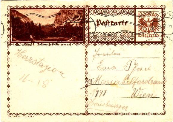 Bildpostkarten Österreich  -  Mi. P 278 Bpktra10