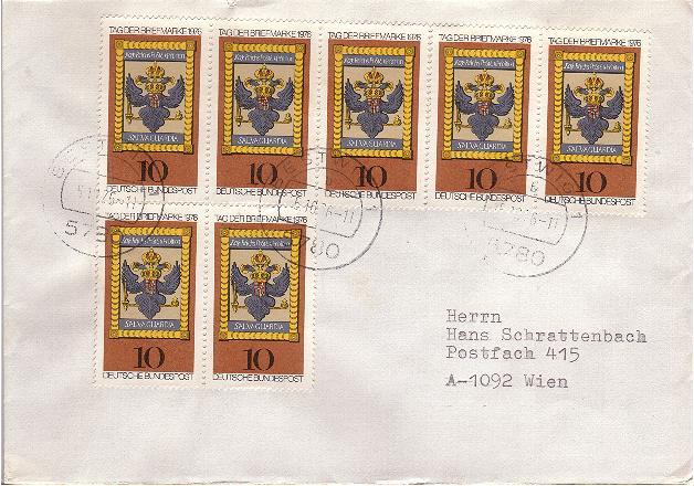 Schöne Briefe und Belege der BRD Brd19710