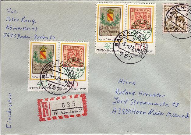 Schöne Briefe und Belege der BRD Brd19711