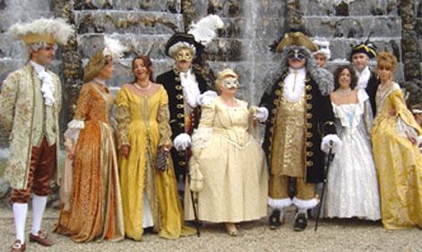 Nos balades en costume au Chateau de Versailles, 2003, 2004, 2005 Bosque10